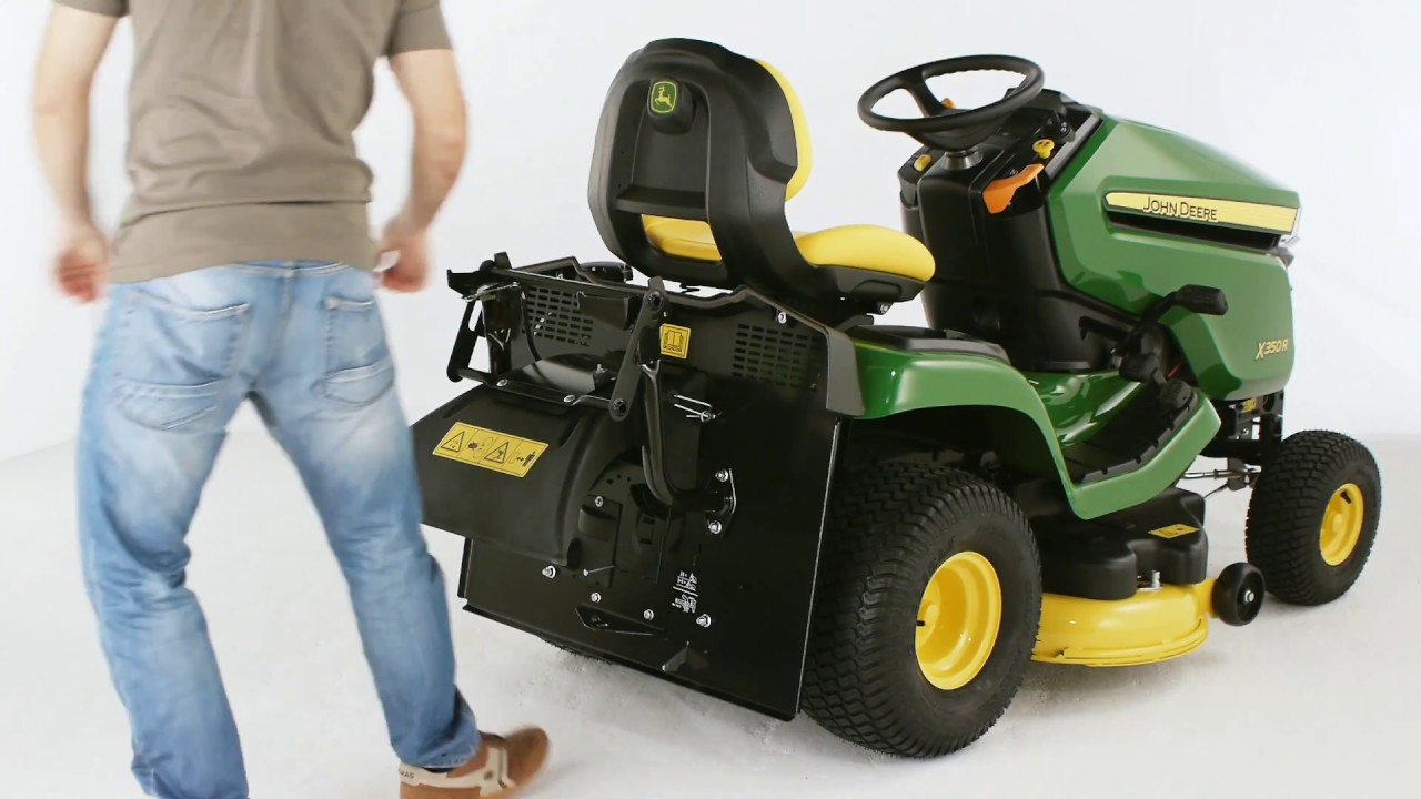 john deere x350r ride on lawnmower product overview youtube. Black Bedroom Furniture Sets. Home Design Ideas
