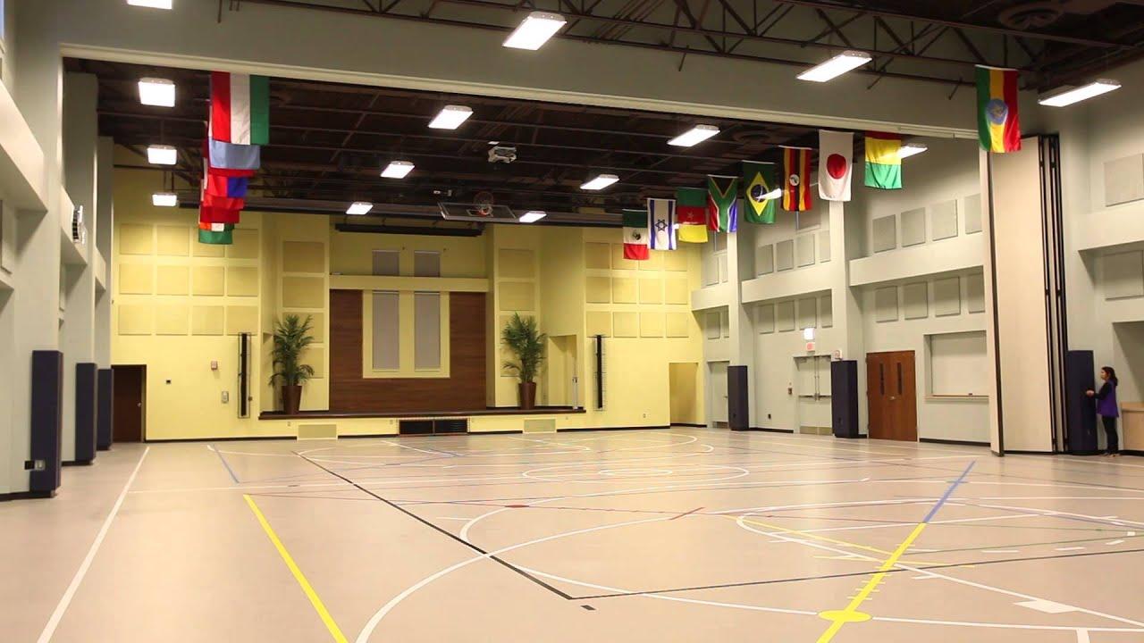 Panelfold Moduflex 440 Gwe Church Gymnasium Youtube