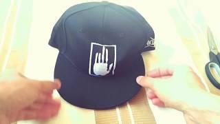 Unisex Street Hip-hop Palm Embroidery Sports Sun Cap - BLACK WHITE