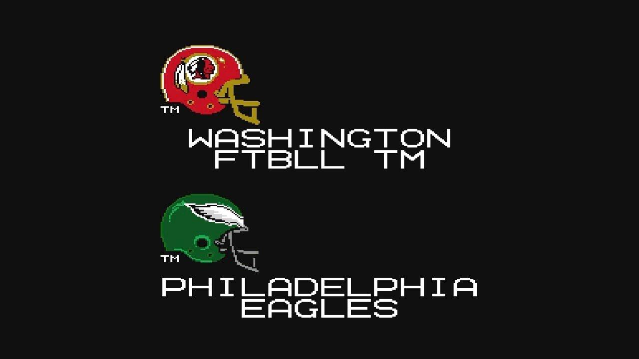 Washington Football Team vs Eagles - Week 1 | Tecmo Super Bowl 2021 - YouTube