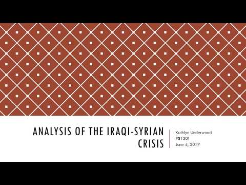 Analysis of the Iraqi Syrian Crisis
