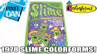 Slime Colorforms 1978 Mattel Vintage Playset Video Review