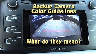 How to Read Backup Camera Color Guidelines