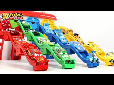 Thumbnail: Learning Color Special Disney Pixar Cars Lightning McQueen Mack Truck slide Play for kids car toys