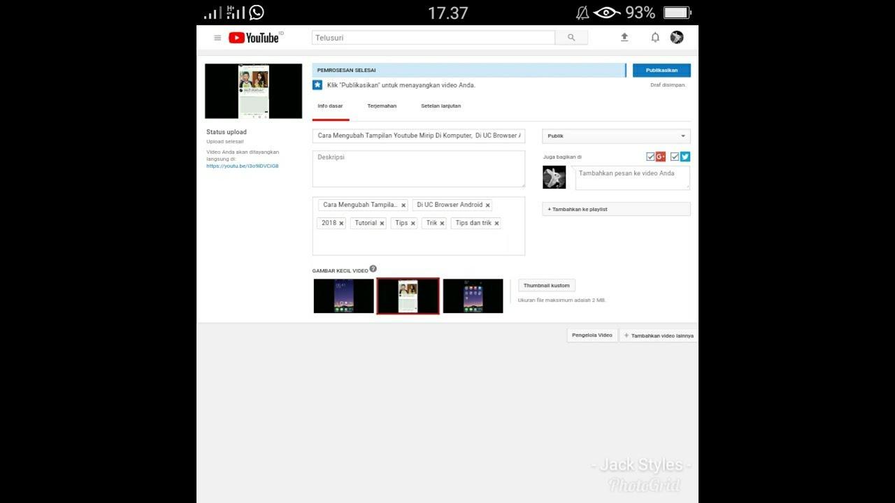 Cara Mengubah Tampilan Youtube Mirip Di Komputer Di Uc Browser Android Youtube