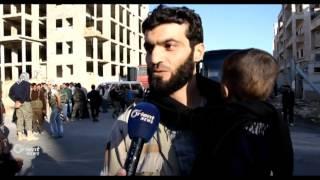 وصول أهالي معضمية الشام إلى المدينة