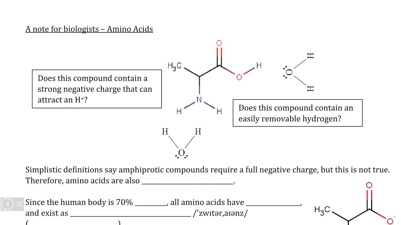 Dynamic Equilibrium IX. Video II - Amphiprotic Compounds - YouTube