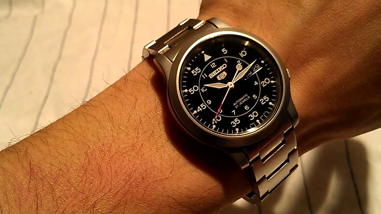 Seiko Military Field Watch Review Model Snk809 K1 On Bracelet