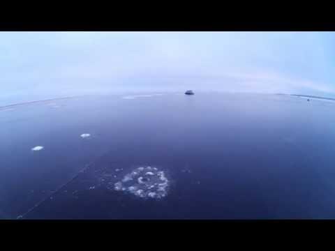 видео: Рыбинское водохранилище 06.12.14