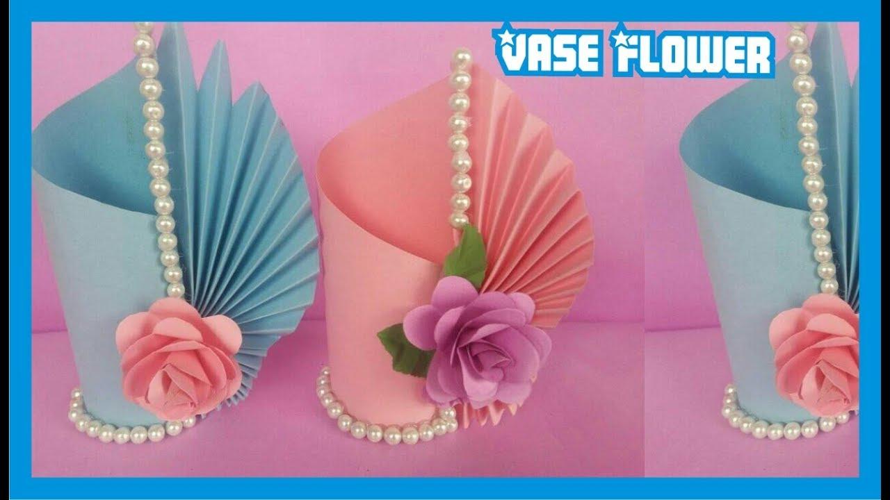 Cara Membuat Vas Bunga Dengan Mudah Dari Kertas Youtube