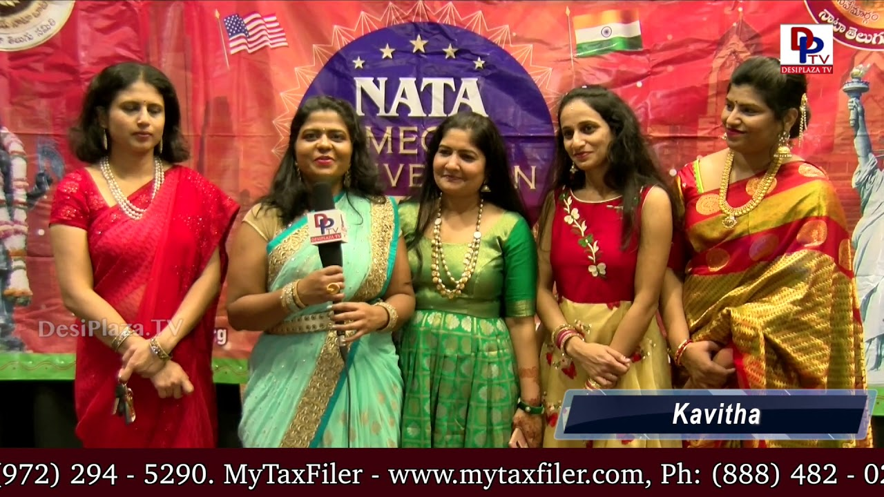 Kavitha - Regional Co -ordinator speaking to Desiplaza TV at International Womens Day - NATA Austin