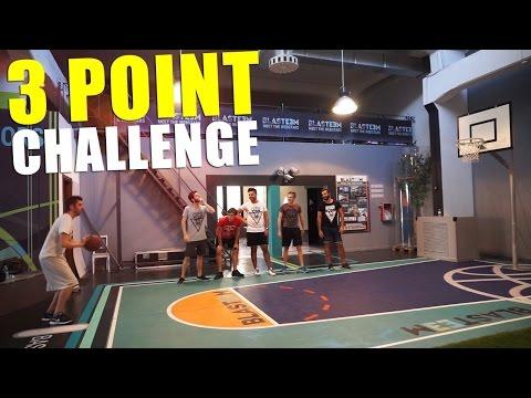 🏀 3 POINT CHALLENGE! BASKETBALL w/ Brazo, S7ormy, Bertra & Leo