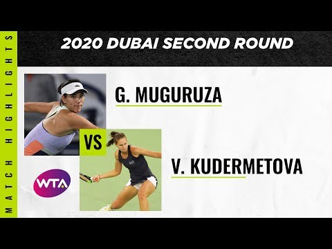 Garbiñe Muguruza vs. Veronika Kudermetova | 2020 Dubai Second Round | WTA Highlights
