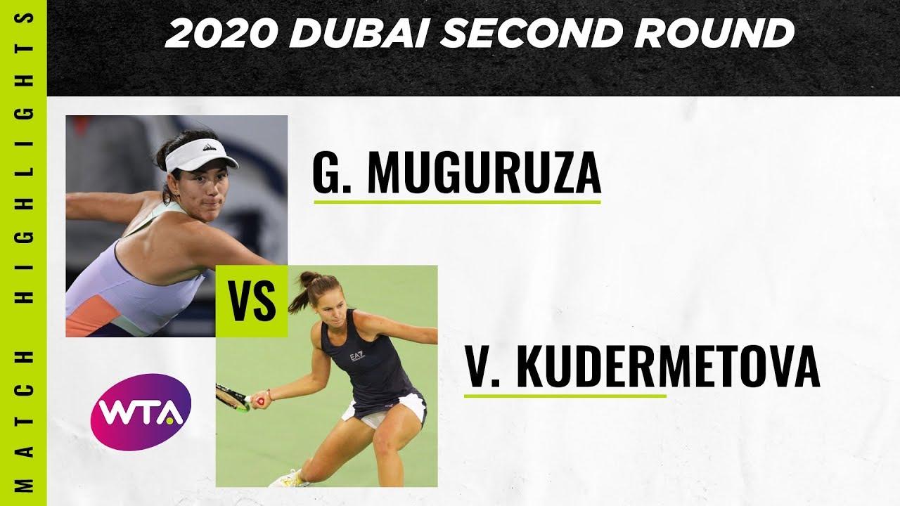Garbiñe Muguruza vs. Veronika Kudermetova | 2020 Dubai Second Round | WTA Highlights