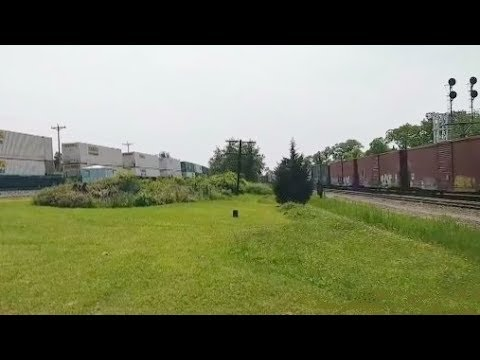 Live Streaming Standing Between 2 Moving Trains