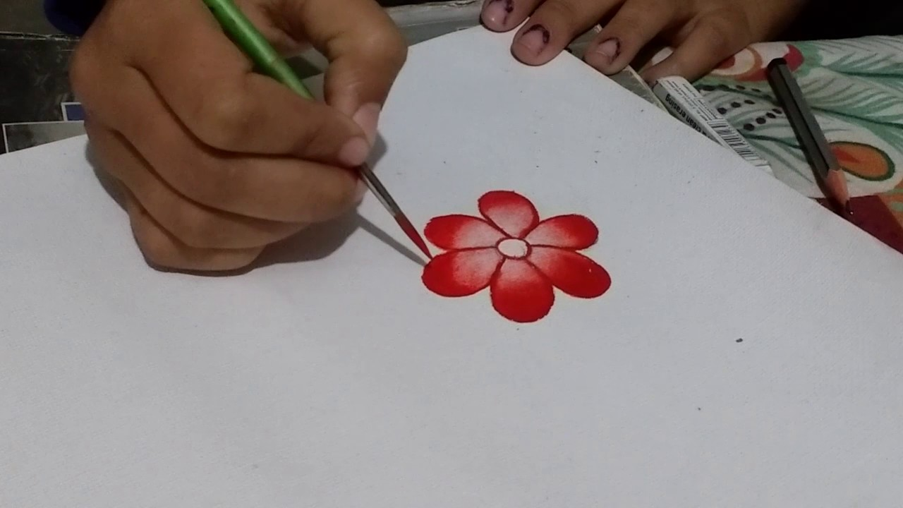 how to draw simple flower for kids youtube