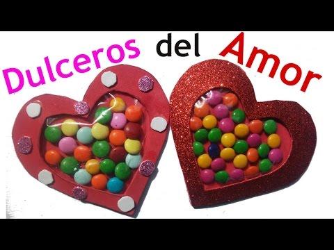 Dulcero De Corazon Para San Valentin Manualidades De Lina