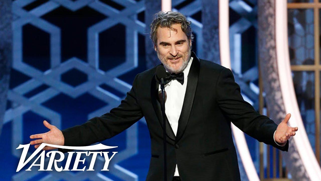Joaquin Phoenix Drops F-Bombs in 'Joker' Speech at the Golden Globes