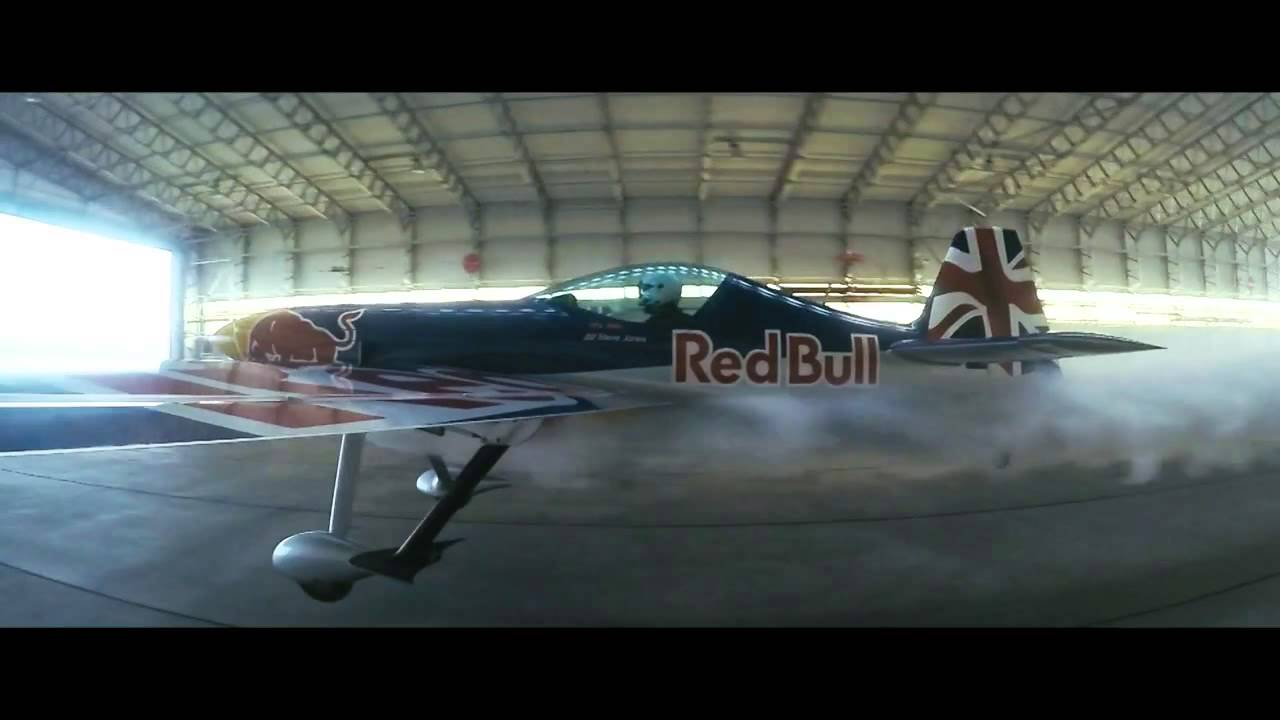 Hangar Plane Red Bull Barnstorming - Two Planes Fly Through A Hangar