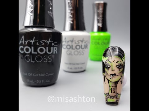 Bride of Frankenstein Nail Tutorial thumbnail