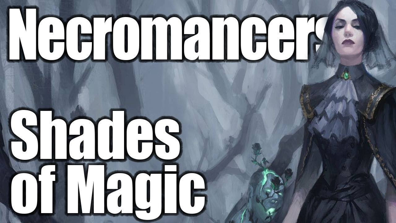 D&D Necromancer 5e- A Wizard's Guide to Black, Grey, and White Magic