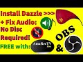 Fix Audio - No Disc Install for Dazzle DVC100 with AmaRecTV & OBS in Full Color!