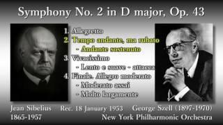 Sibelius: Symphony No. 2, Szell & NYP (1953) シベリウス 交響曲第2番 セル