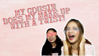 MY COUSIN DOES MY MAKE UP WITH A TWIST | DAREL JEAN MERCADO