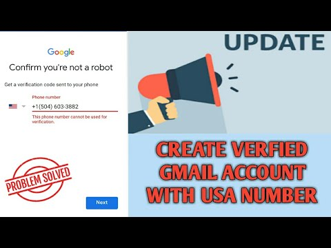How to create verified gmail account with usa number 2018 New update