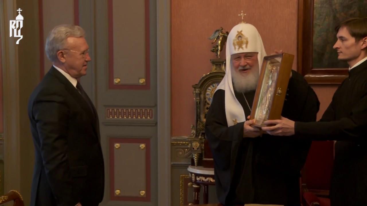 По просьбе прихожан Патриарх Кирилл передал икону для строящегося храма в селе Красноярского края