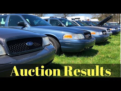 Auction Results of Crown Vic's and Caprice PPV's