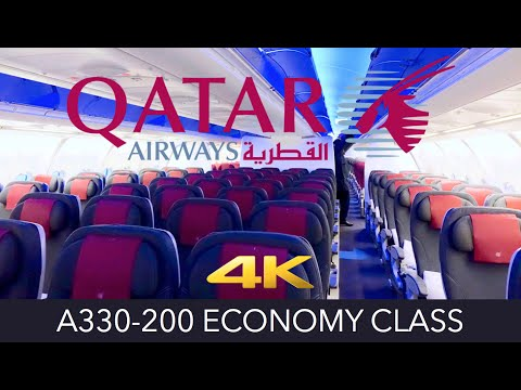 Qatar Airways A330-200 Hong Kong ✈ Doha Economy 4K Trip Report