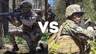 British Army Royal Gurkha Rifles vs U.S. Marines - Mock Battle between U.S Marines and Allies
