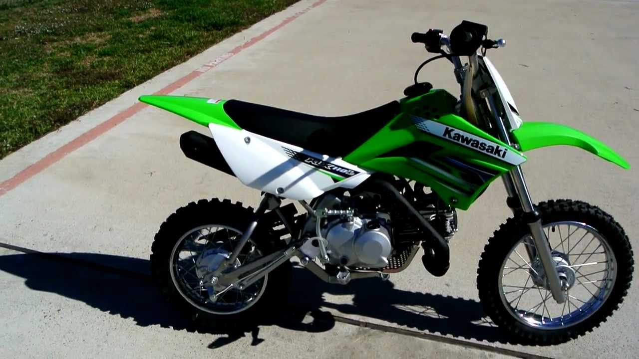 2012 Kawasaki KLX110L Lime Green Manual Clutch Electric Start Review  Overview