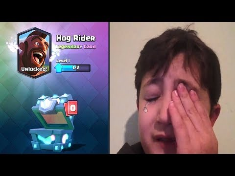 Kid Starts Crying After Getting An Epic From Legendary Chest In Clash Royale