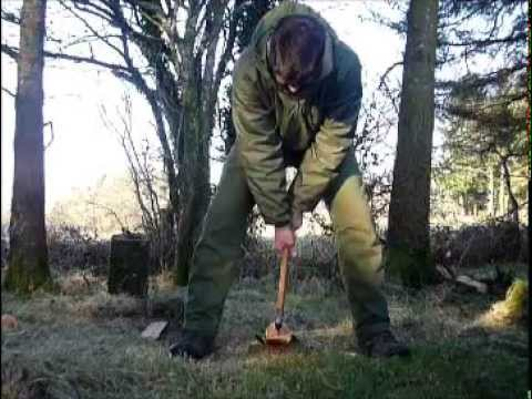 Splitting wood without a chopping block