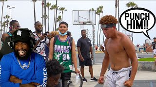 I LIKES THIS!! Venice Beach SHI* Talkers Get EXPOSED BAD!! 5v5 Basketball!