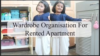 How to organize small Indian Wardrobe for kids, Separate wardrobe for kids in Rented Apartment ideas