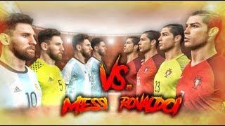 11 KLONÓW Leo Messiego vs 11 KLONÓW Cristiano Ronaldo | PES 2018 EKSPERYMENT