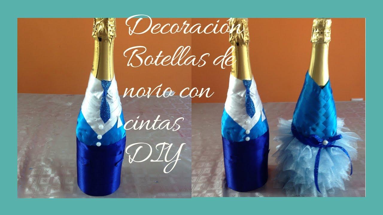 Decoraci n botella novio decoration bottle boyfriend youtube - Decoracion de botellas ...