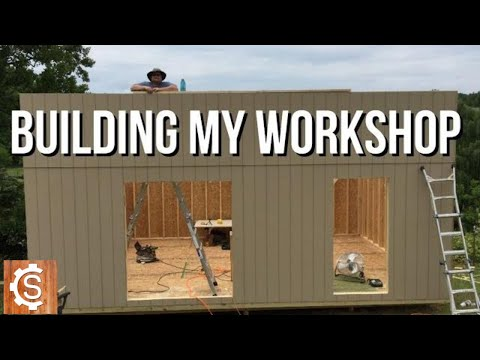 Building my Workshop (FULL BUILD, 1 HR) | Woodworking | DIY | How to | Shop Build