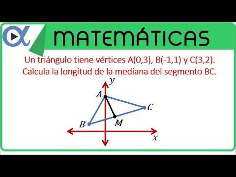 Como sacar la mediana de un triángulo