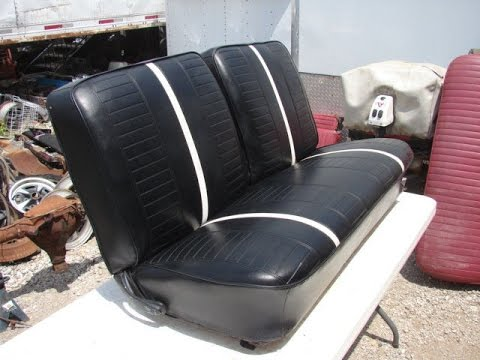 1966 1967 Nova 2 Door Black Bench Seat Ss 327 350 Chevy 2