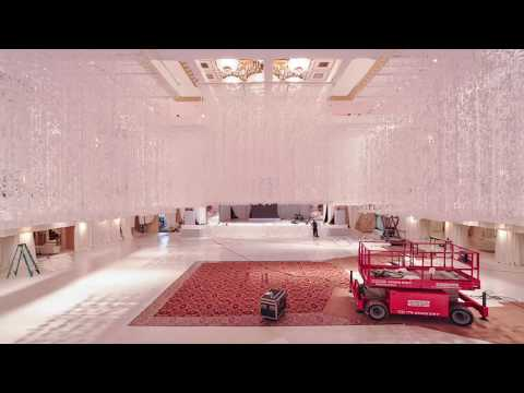 Preston Bailey Ballroom Transformation at Waldorf Astoria New York.