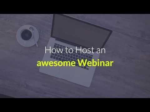 host an awesome webinar