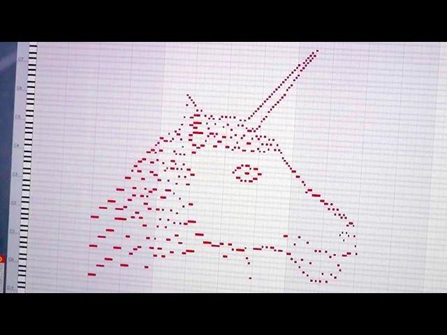 Un youtuber logra convertir la imagen de un unicornio en música