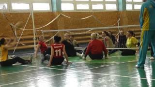 Волейбол сидя тренировка женской сборной Украины