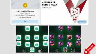 Cleared Match Day Konami Cup 61,2 Squad Value PES 2020 Mobile