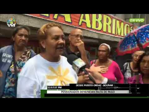 Venezuela - En el estado Bolívar pensionados también se quejaron por pago de pensiones - VPItv