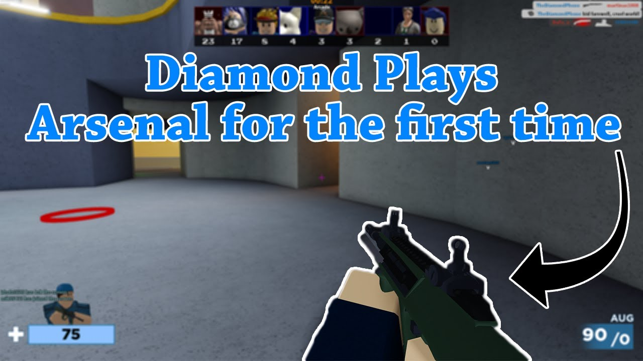 Diamond Plays Arsenal For The First Time Roblox Arsenal 4k